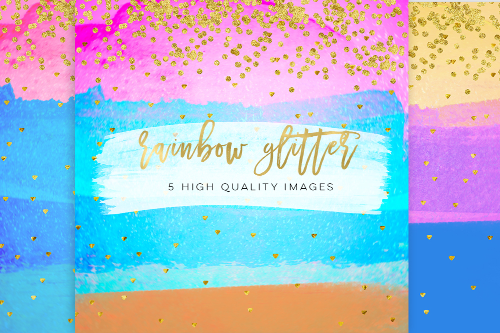 Clip Art watercolor paper glam sticker paper 300 dpi, glitter stickers, summer glitter, Personal Size Weekly Kit Paper, diamond party DIY example image 3
