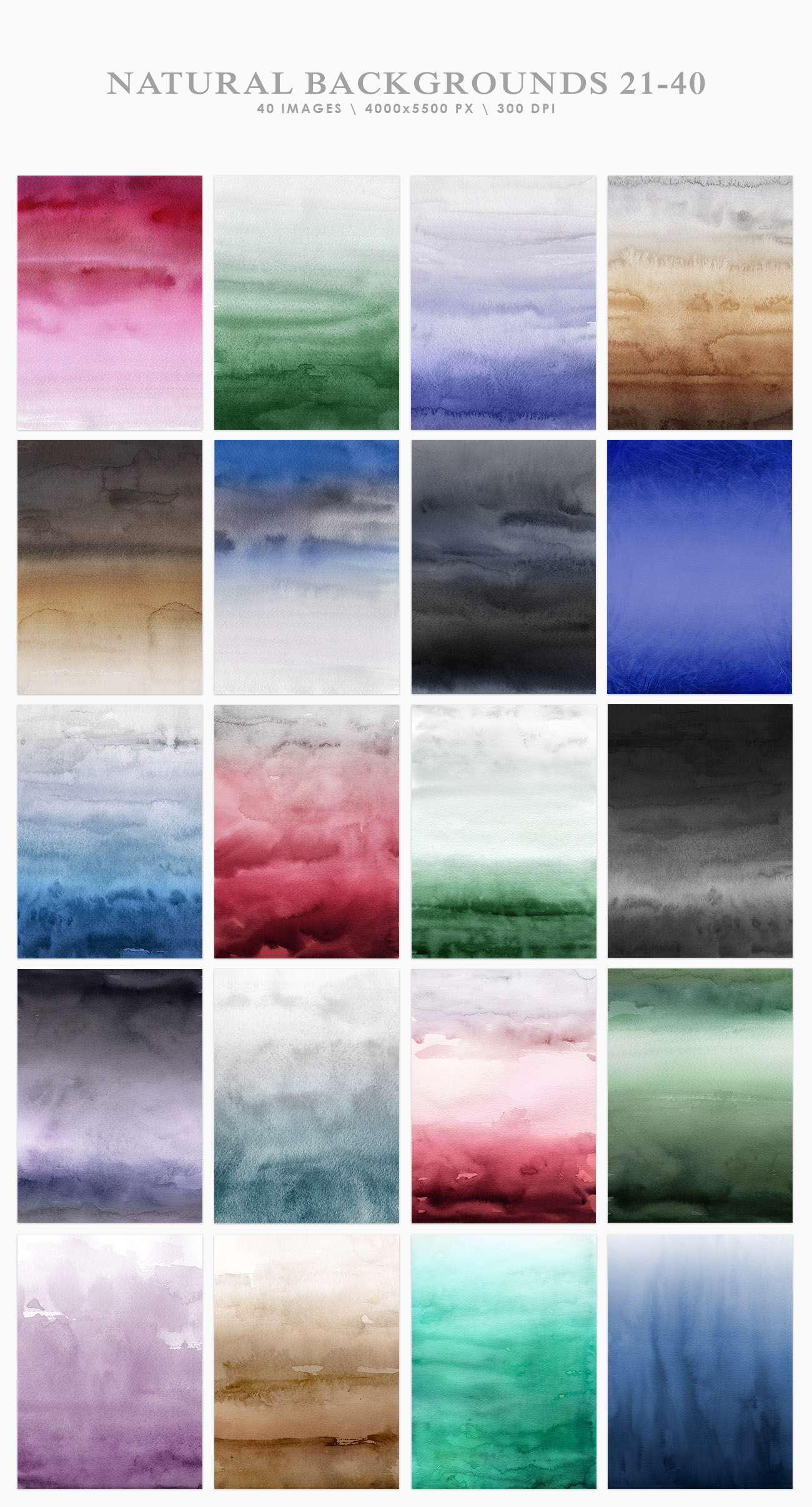 Natural Watercolor Ombre Backgrounds example image 3