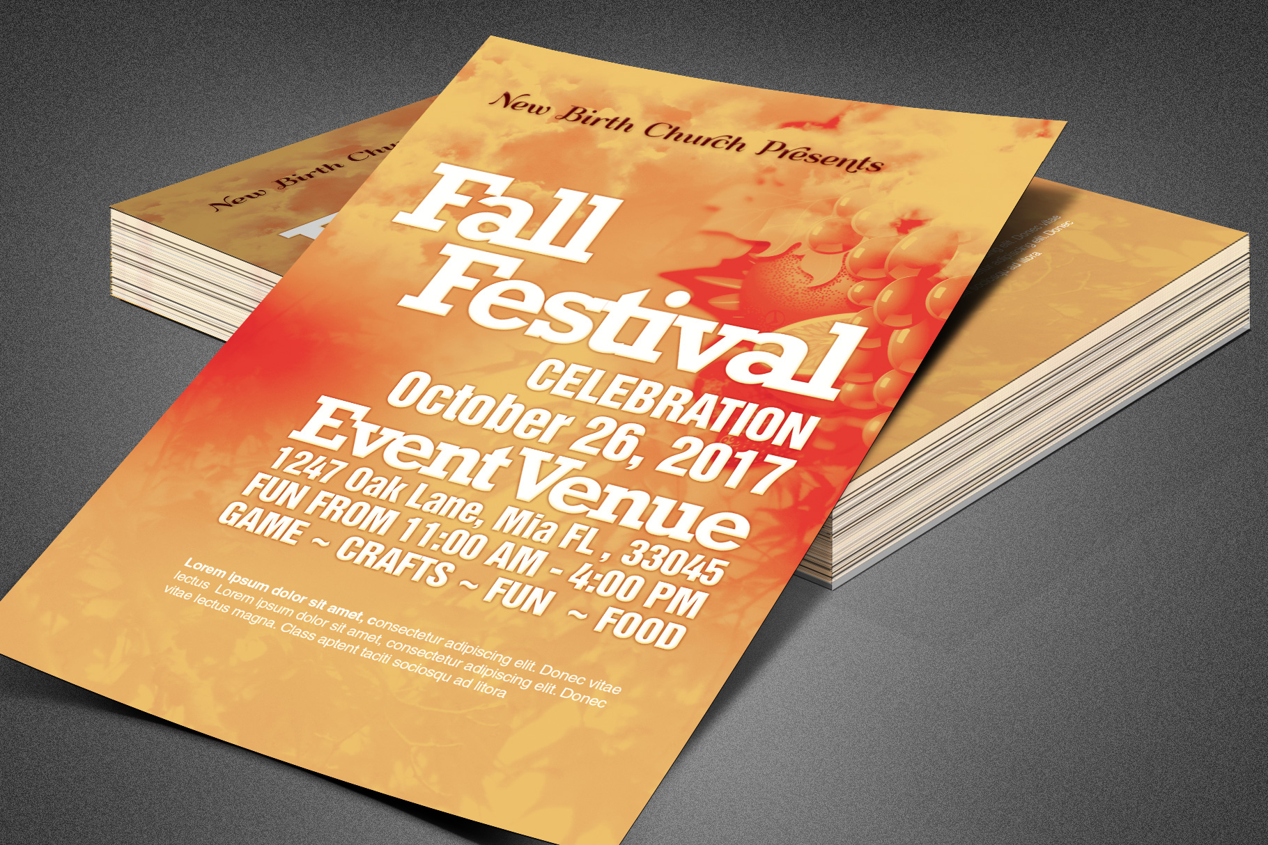 Fall Festival Church Flyer Template example image 4