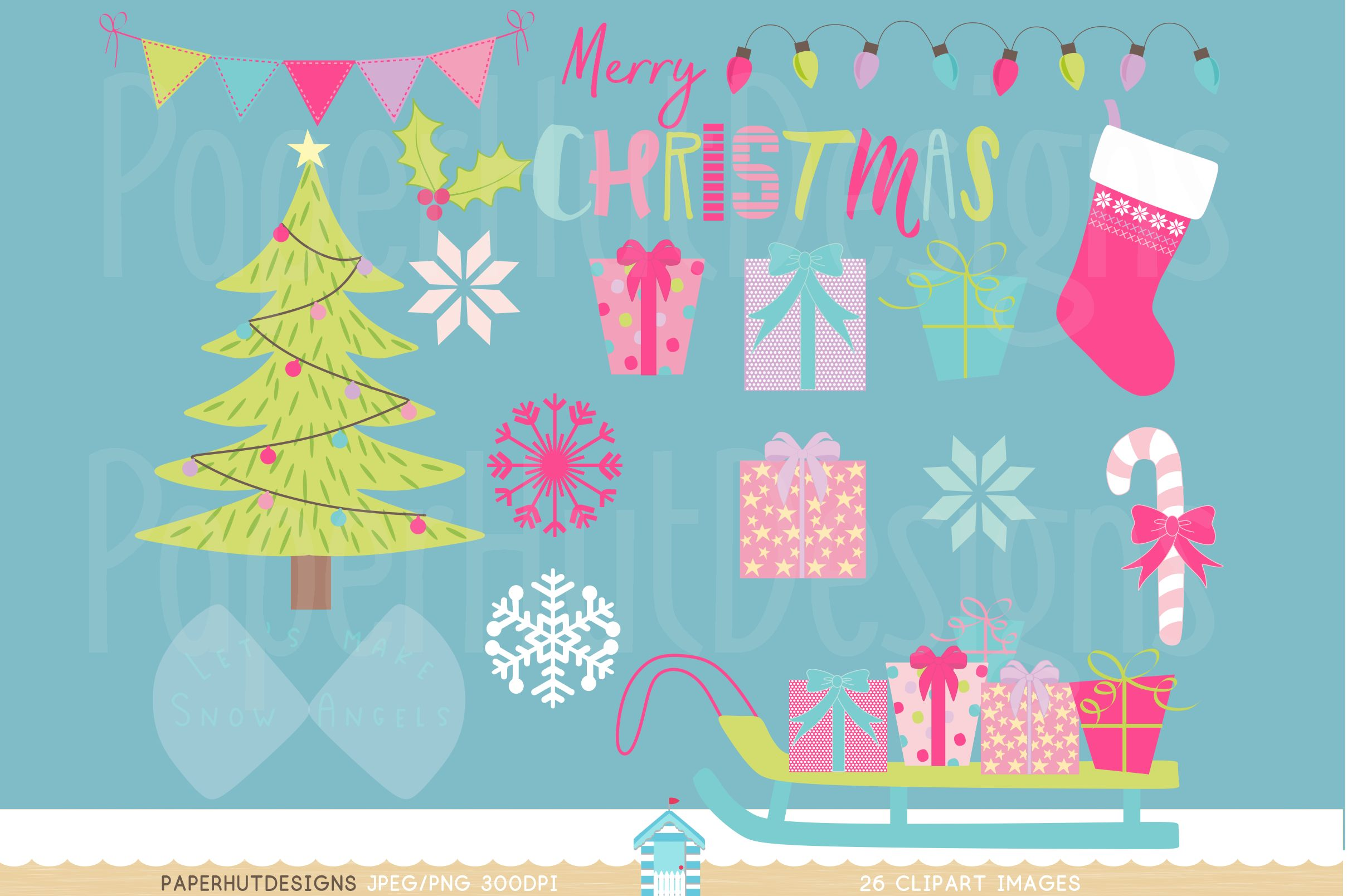 Christmas Fairy Clipart Set example image 3