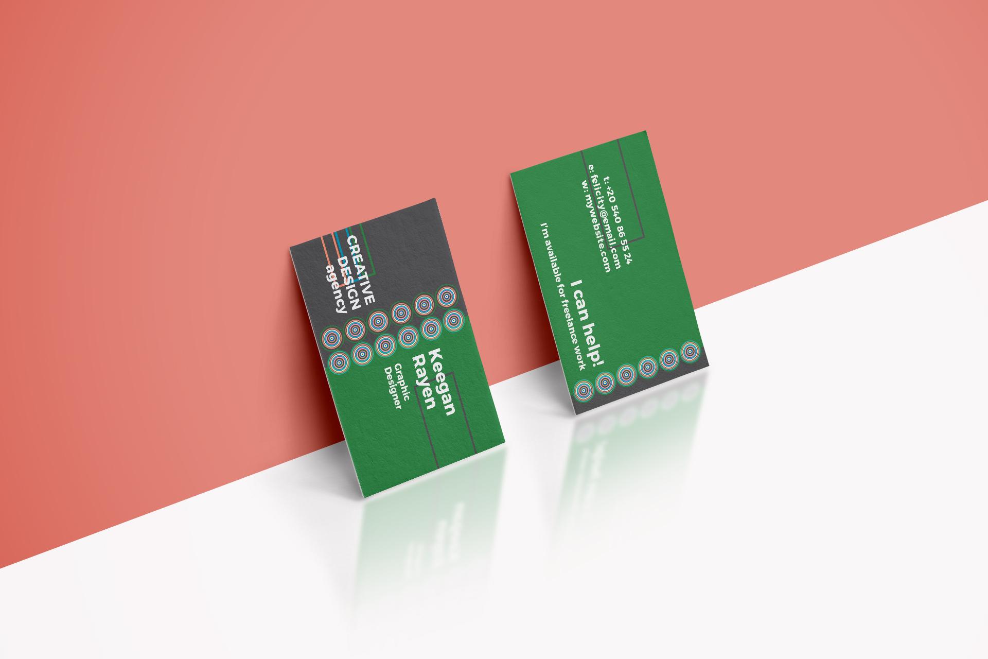 Creative Design Agency Business Card by | Design Bundles