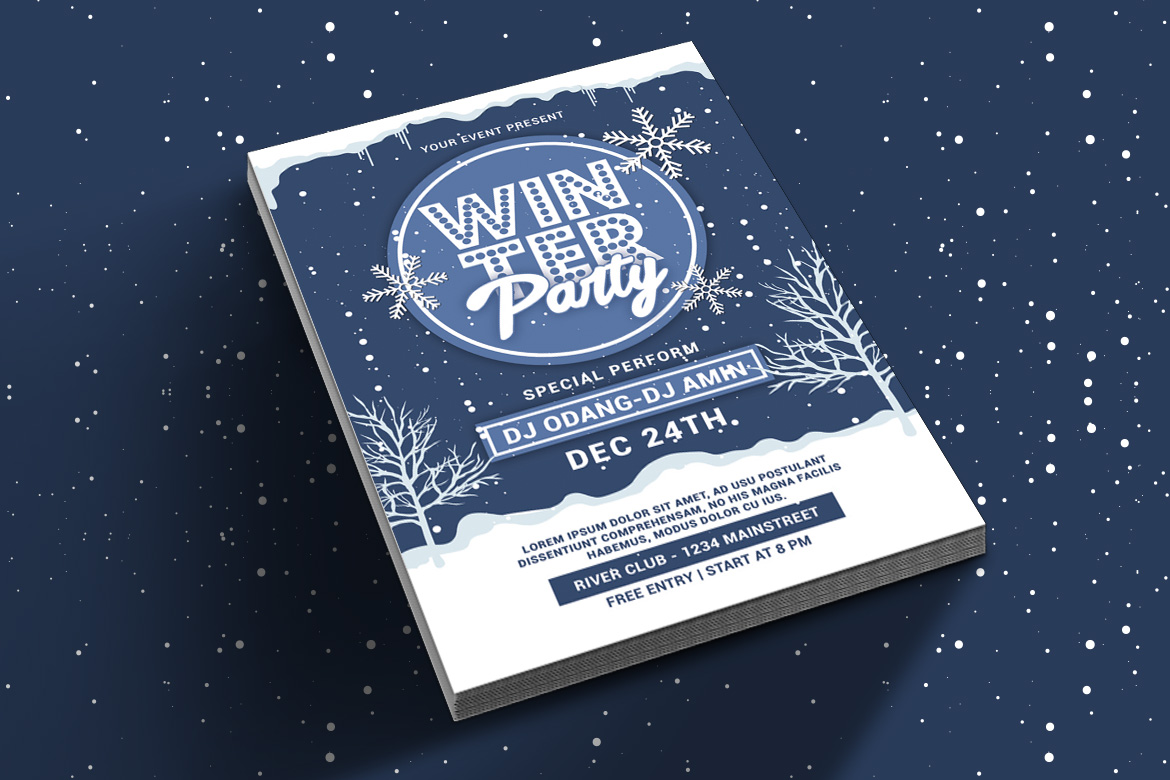 Winter Party Flyer example image 2