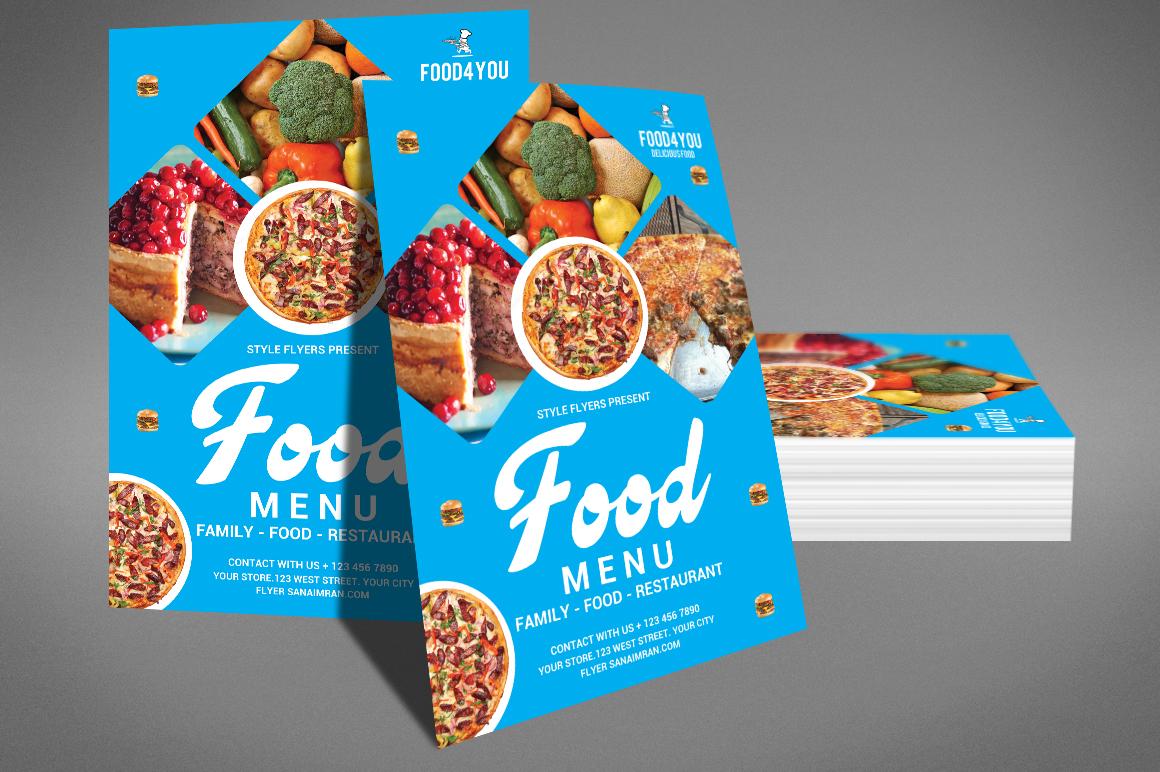 Food Menu Flyer Template example image 4