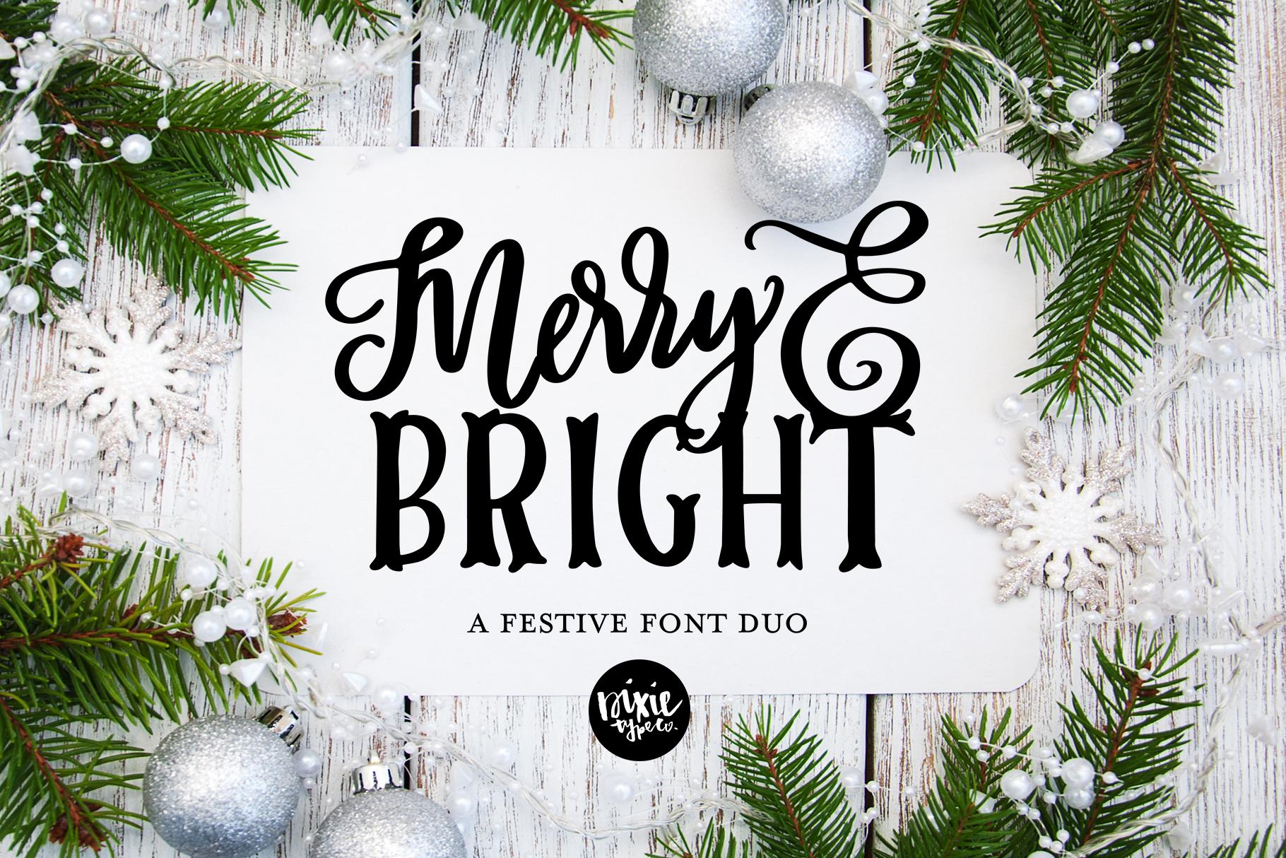 CHRISTMAS FONT BUNDLE - 4 Hand Lettered Christmas Fonts example image 2