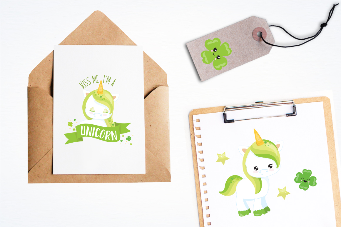 Unicorn Clover graphic and illustrations example image 4