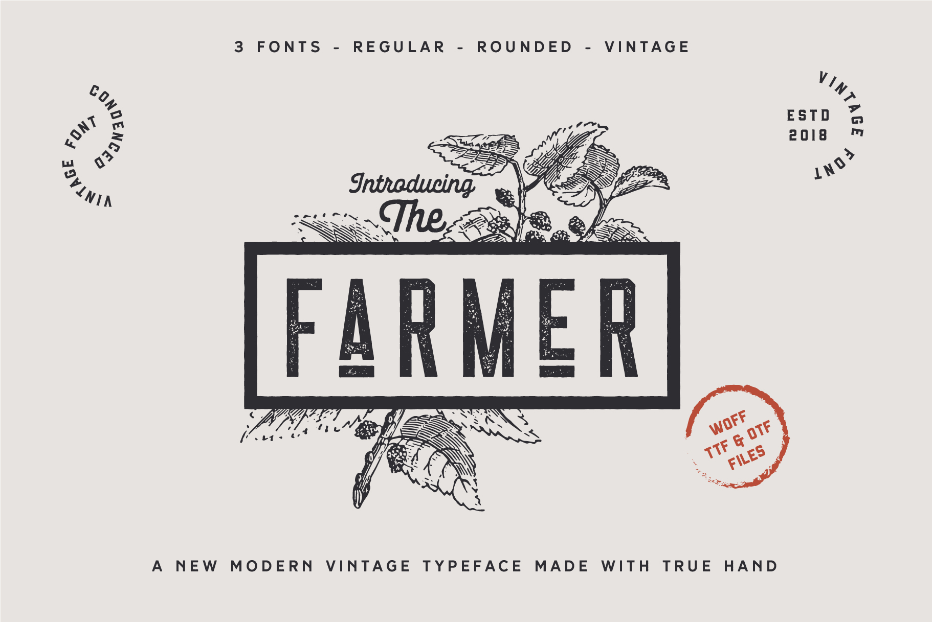 The Farmer Font - Condensed Typeface example image 2