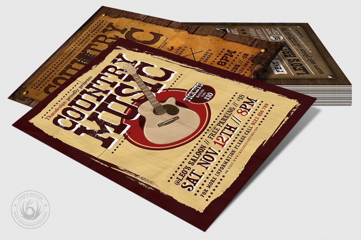 Country Music Flyer Bundle V2 example image 7