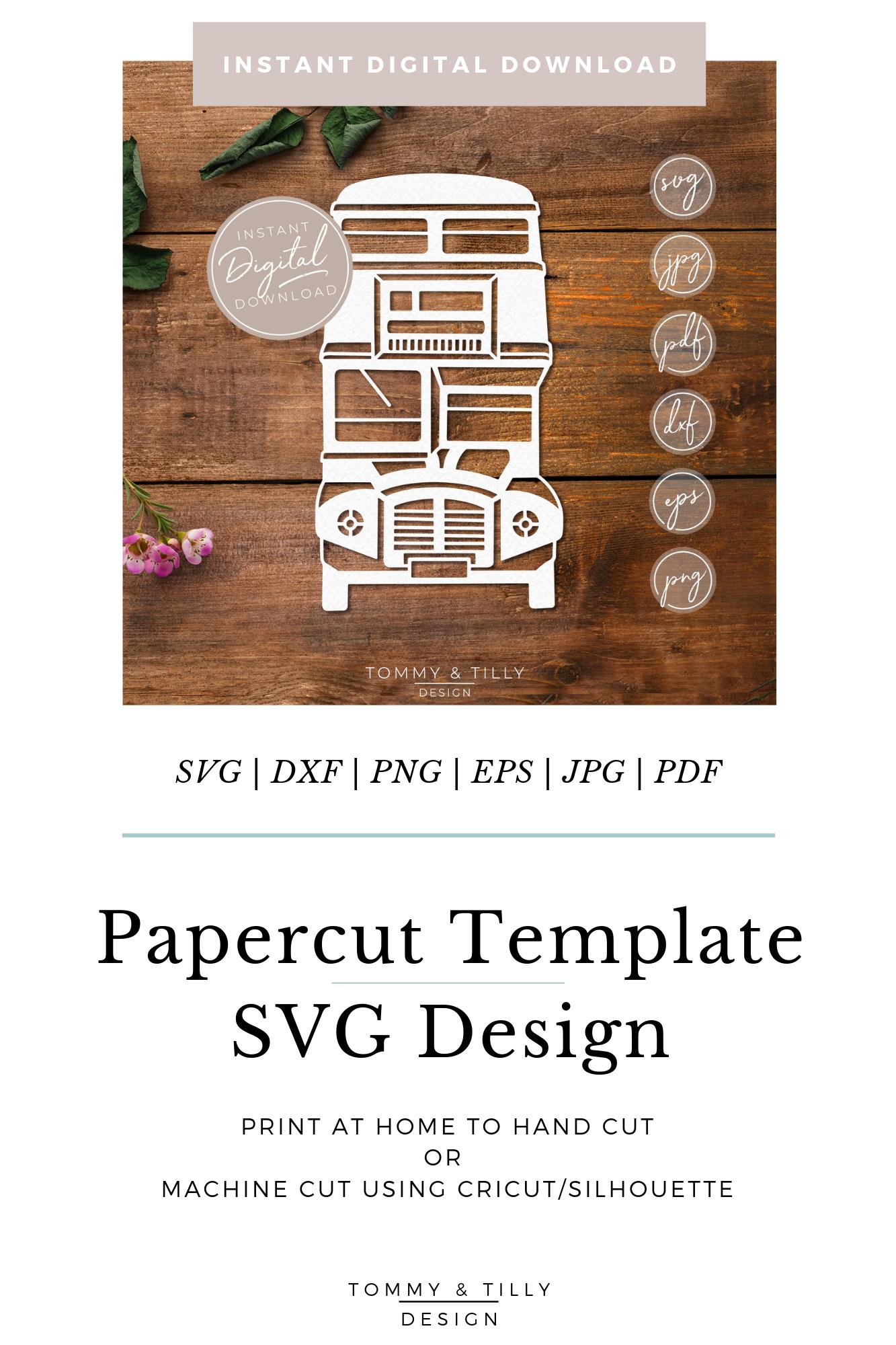 London Bus - SVG EPS DXF PNG PDF JPG Cut File example image 11
