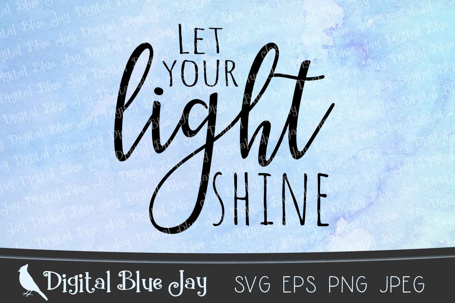 Let Your Light Shine Christian SVG PNG Cut Files example image 2