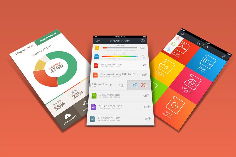 Mobile App Mock-Ups example image 4