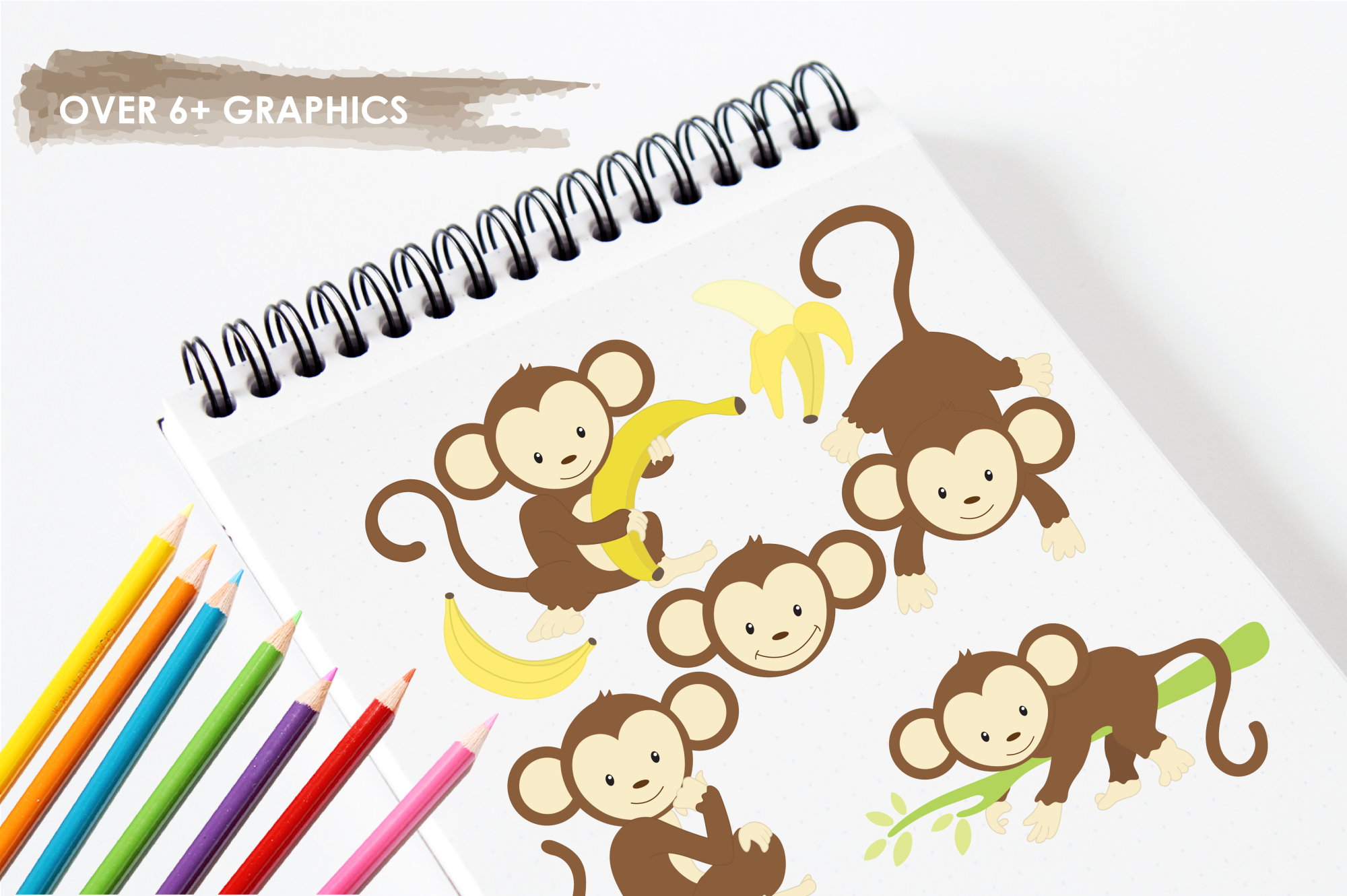 Monkeys graphics and illustrations example image 3