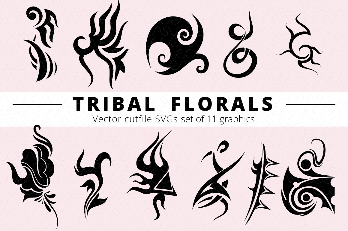 SVG Florals Cutfiles Bundle Pack of 270 vector graphic shape example image 25