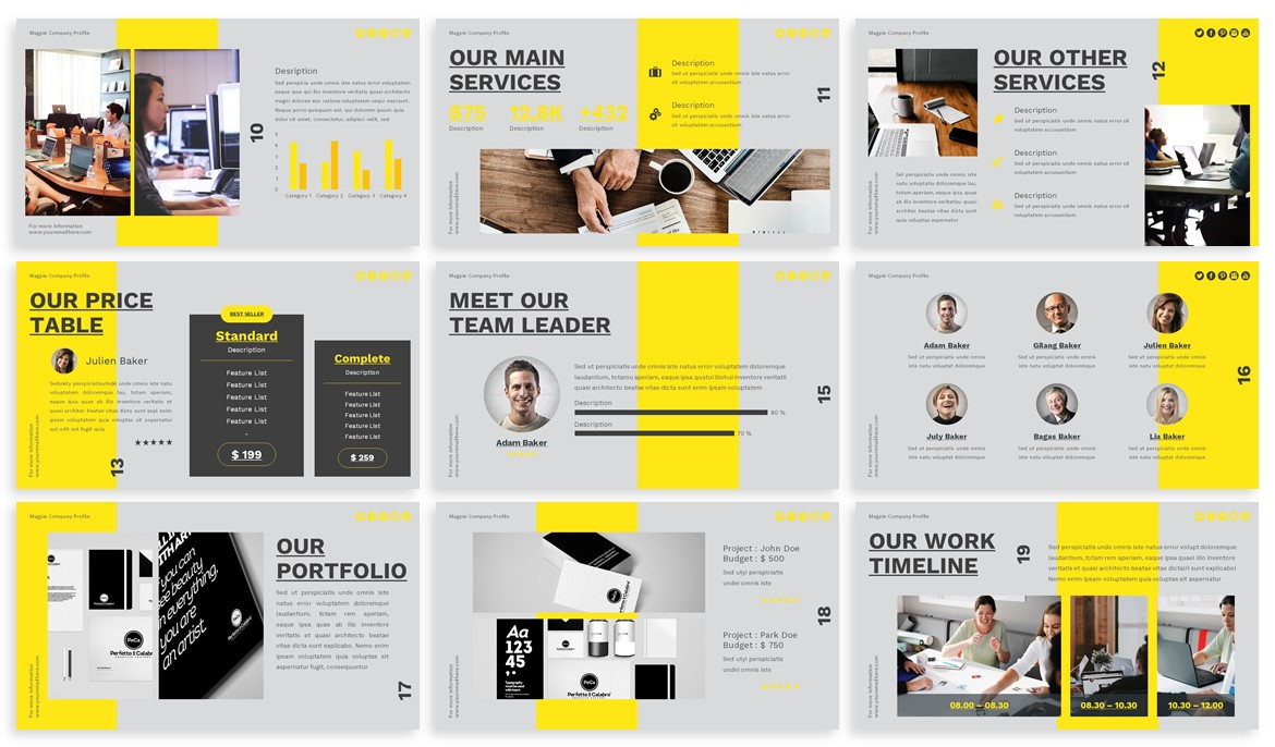 Magpie - Creative Powerpoint Template example image 3
