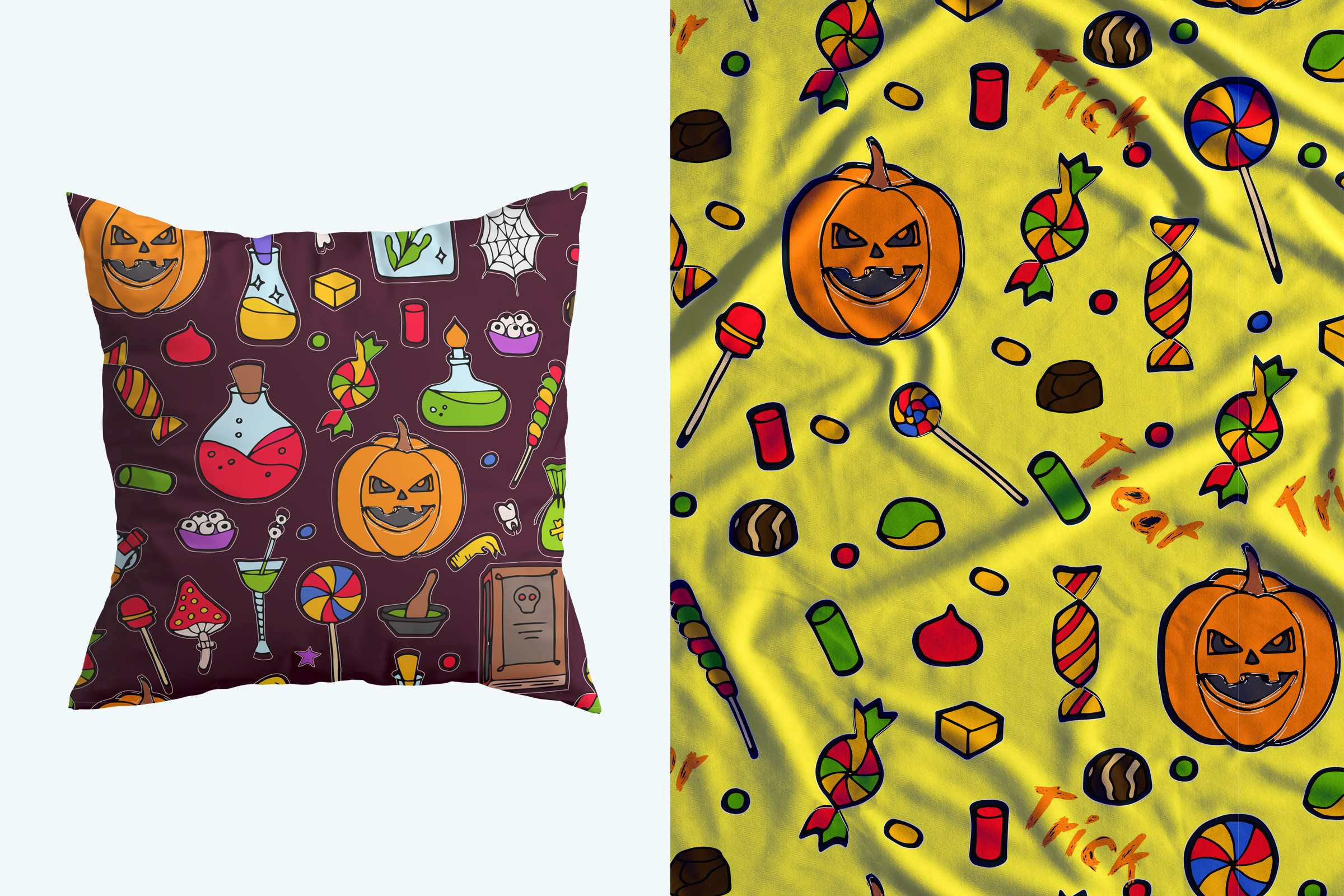 Halloween collection. Patterns, Elements, Posters example image 7