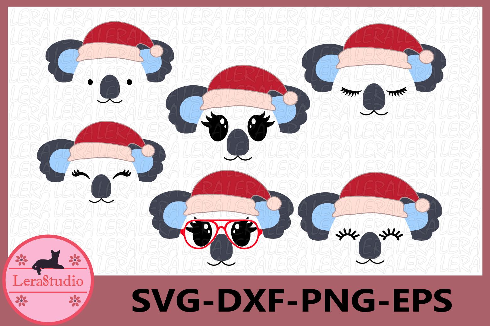 Koala Face SVG, Christmas svg, Koala Eyelashes Face, Koala example image 1