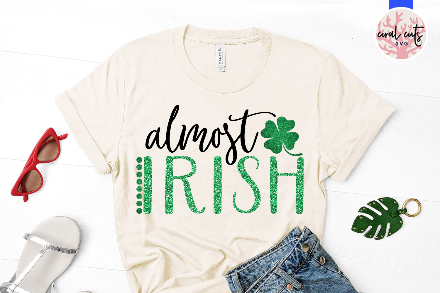 Almost irish - St. Patrick's Day SVG EPS DXF PNG example image 2