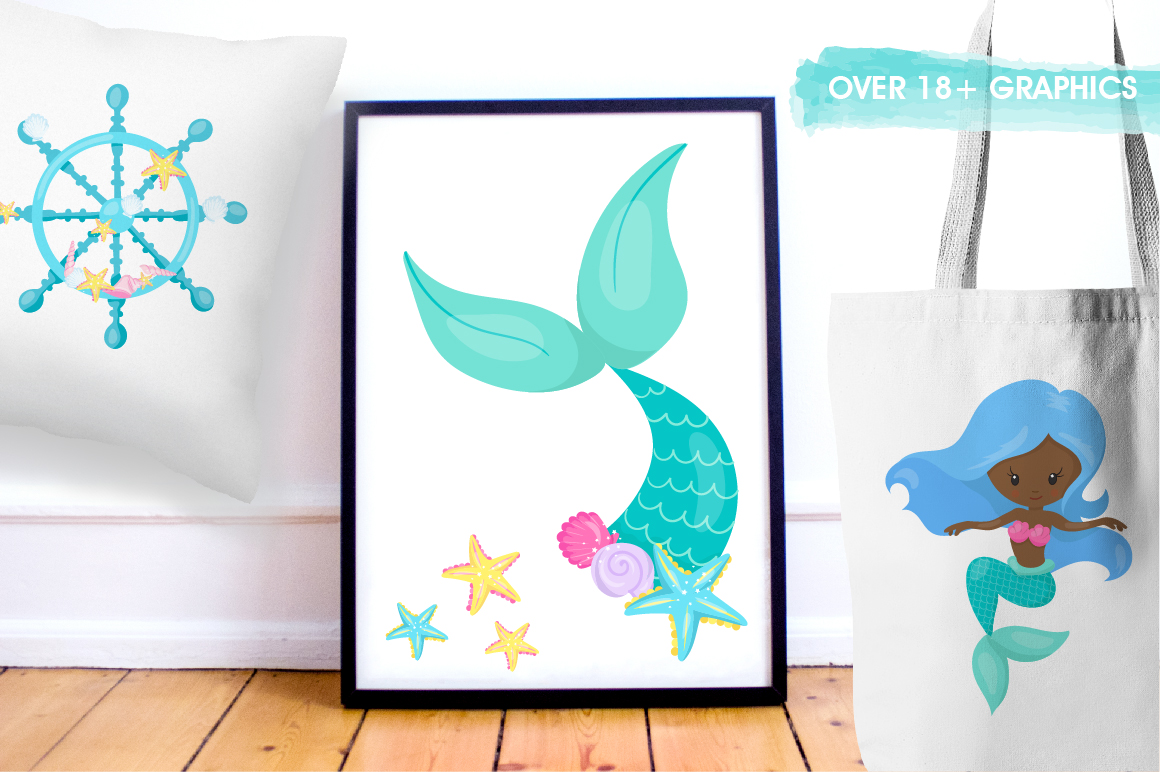 Mermaid at Heart graphic and illustrations example image 4