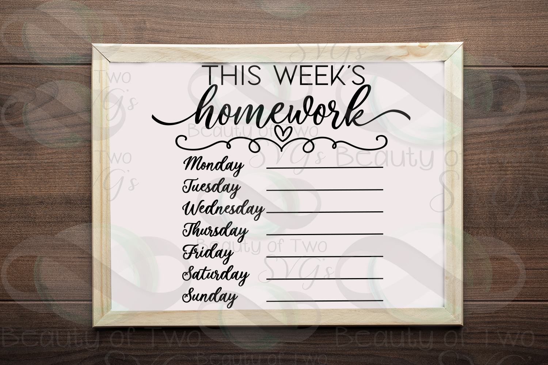 This week's organization svg Bundle, Menu svg, chores svg example image 7