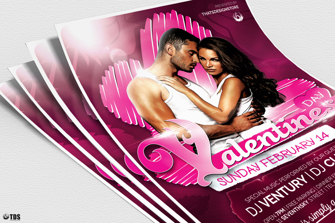 Valentines Day Flyer Template V7 example image 5
