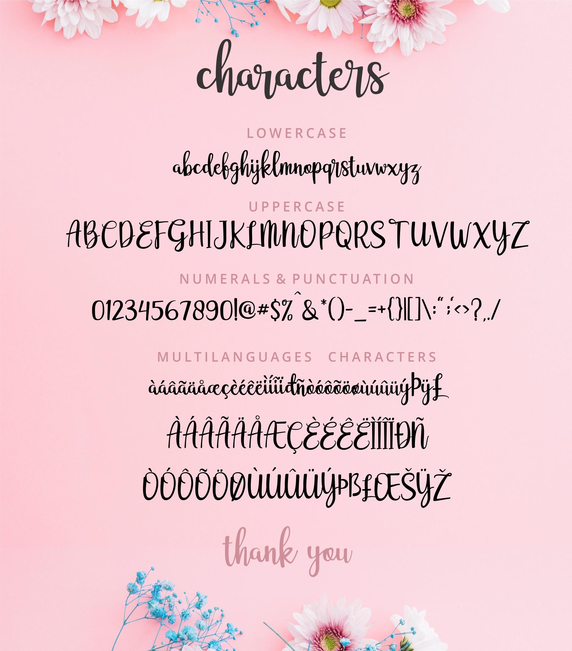 Adelline | beautiful elegant font example image 4
