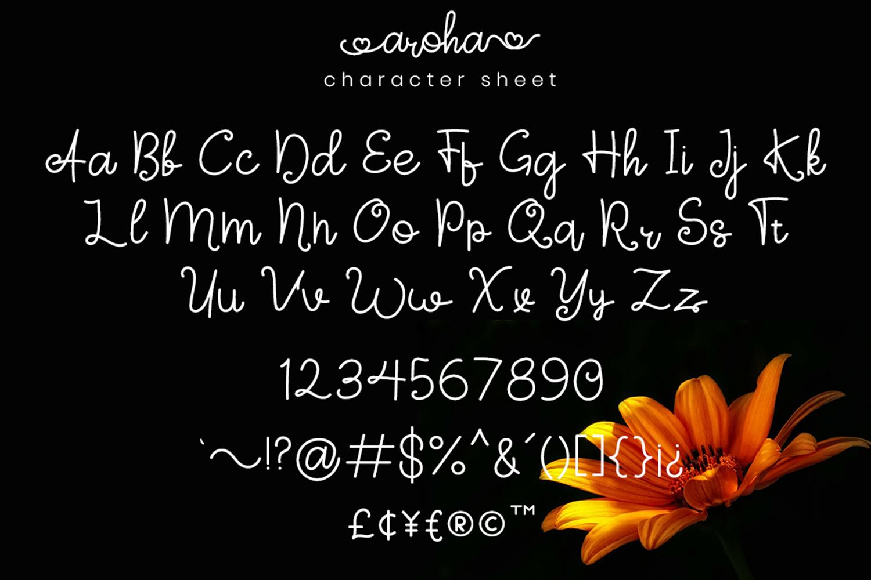 Aroha Script example image 5