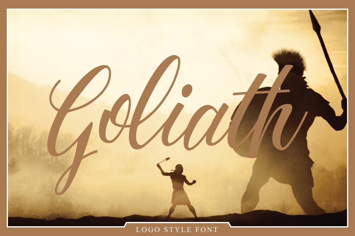 Goliath Font example image 1