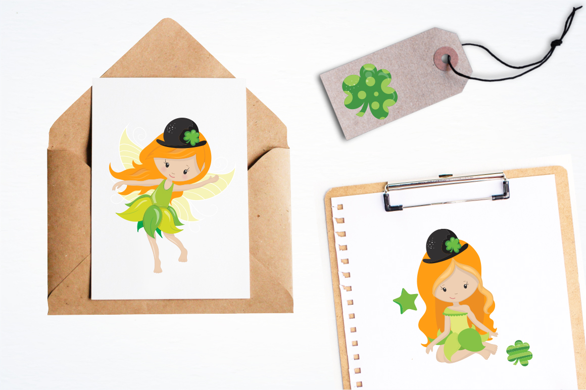 st-patrick fairies graphic and illustrations example image 2