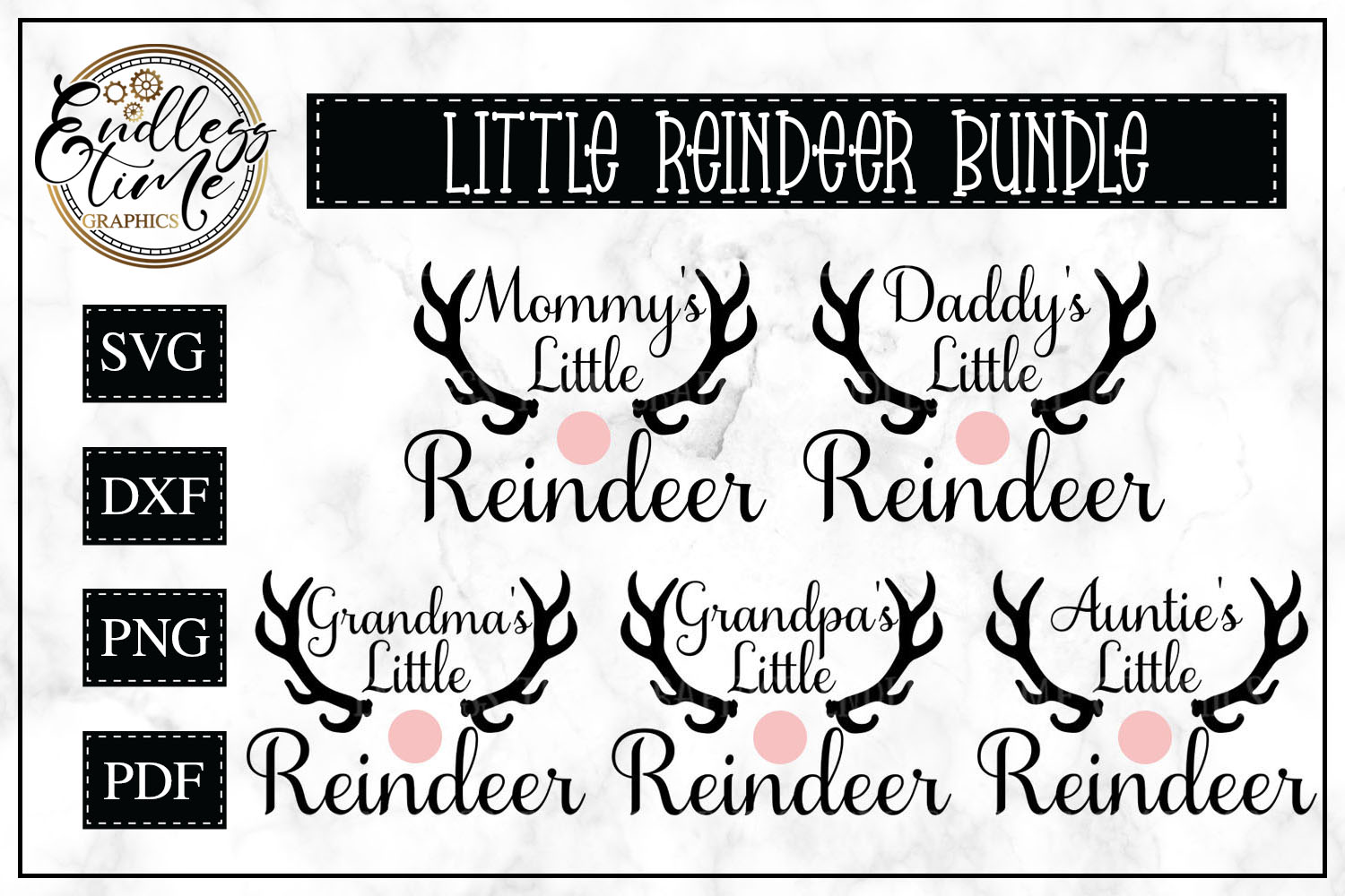 Mommy's Little Reindeer Christmas SVG example image 1
