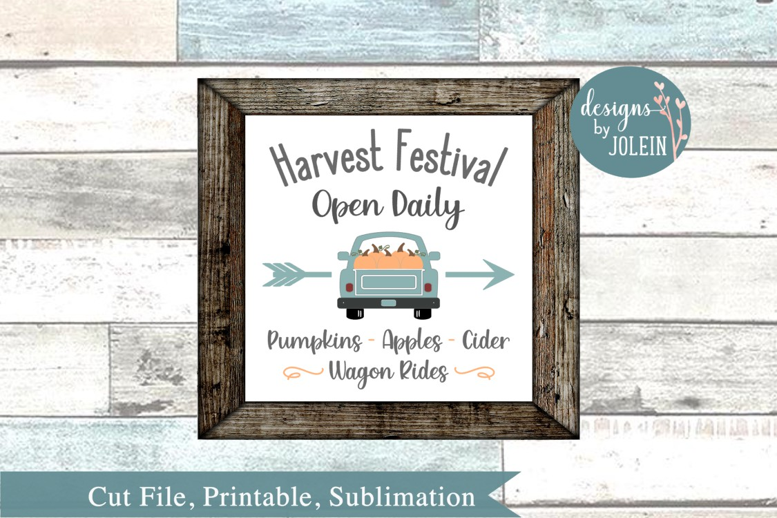 Harvest Festival SVG, png, eps, sublimation, DXF, Printable example image 1