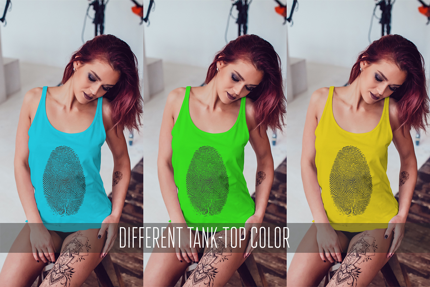 Female Tank-Top Mock-Up Vol.3 example image 6
