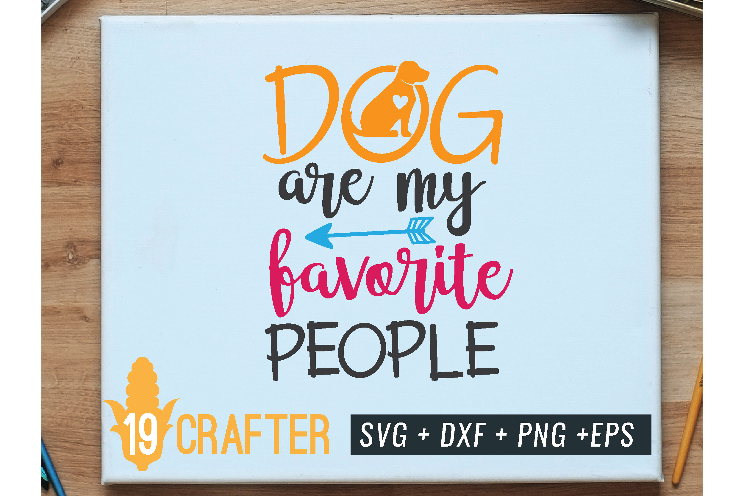 dog are my favorite people svg dxf png eps example image 1
