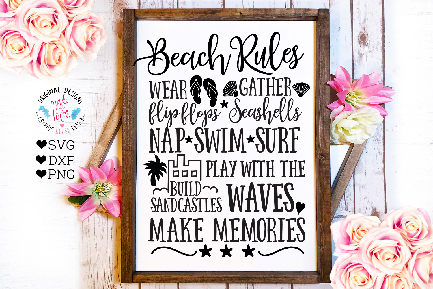 Home and Summer Decor Rules Cut File Bundle example image 3