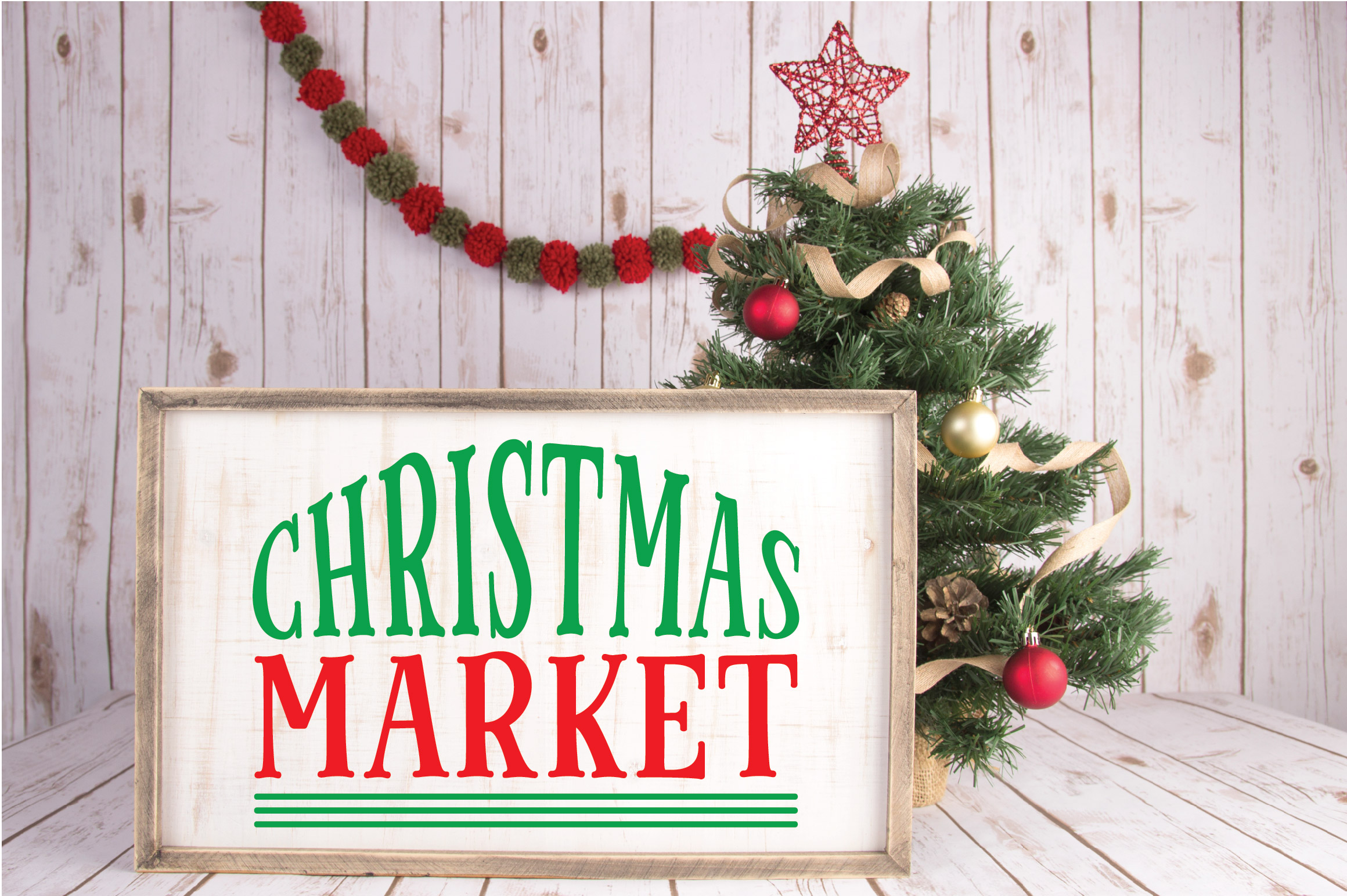 Christmas SVG Cut File - Christmas Market SVG DXF PNG EPS example image 2