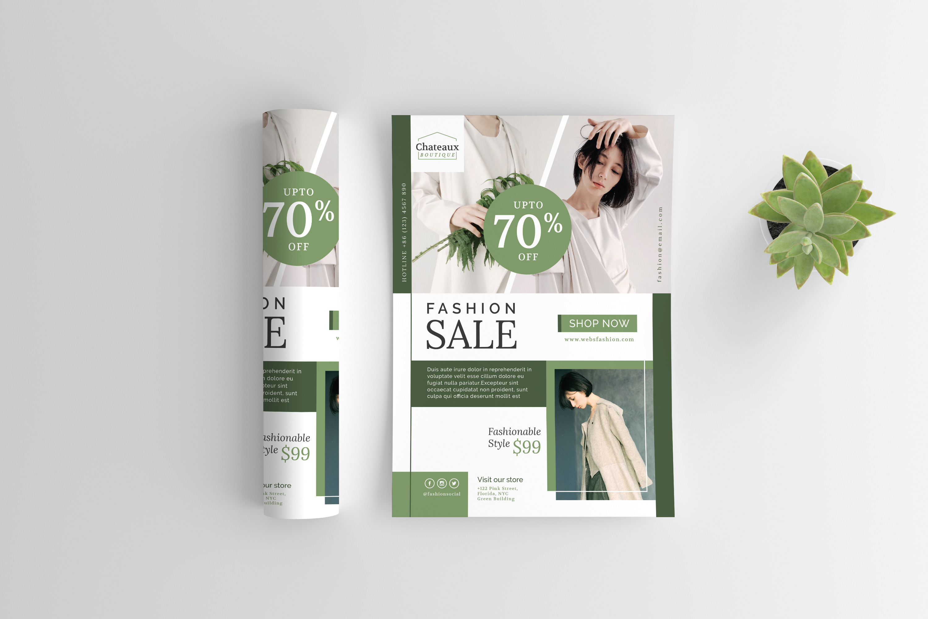 Fashion flyer template example image 5