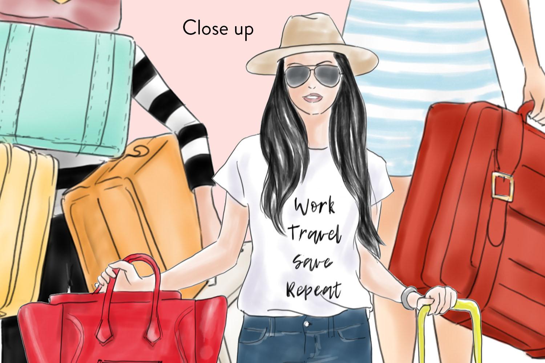 Travel girls fashion clipart example image 3