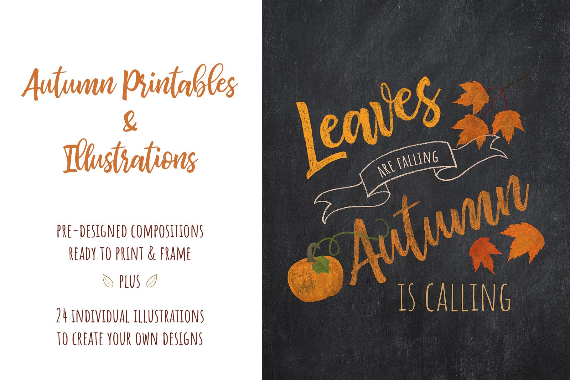 Autumn Printables & Illustrations example image 1