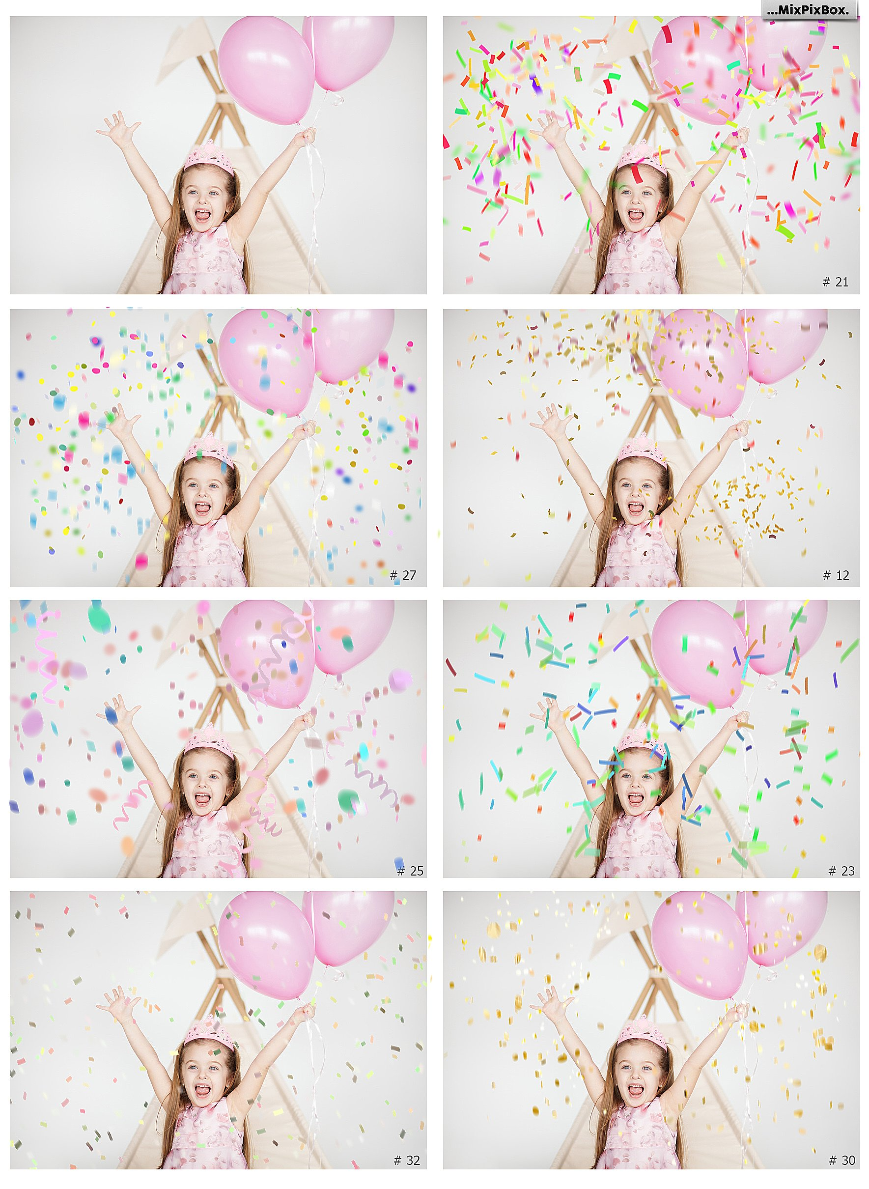 Confetti overlays  PS brushes example image 2