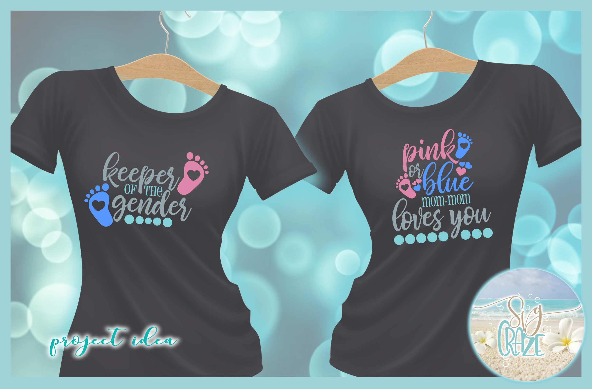 Keeper Of The Gender Pink Or Blue Loves You Tshirt Quote SVG example image 2