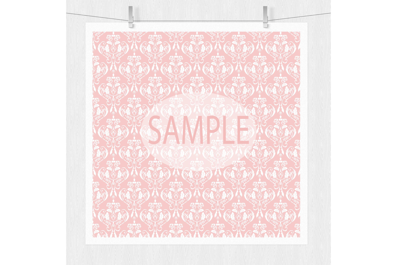 Pink Damask Digital Paper example image 5