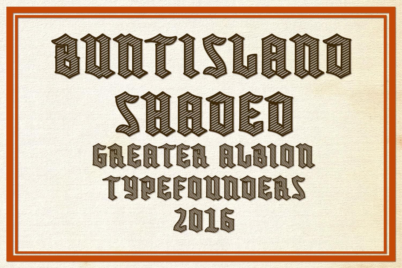 Buntisland Typeface Family example image 11