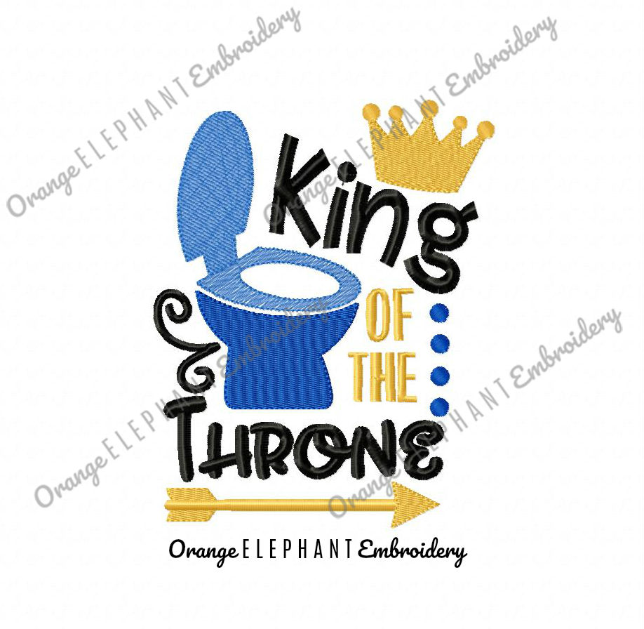 King Of the Throne Unique Urban Machine Embroidery Design digital File  example image 1
