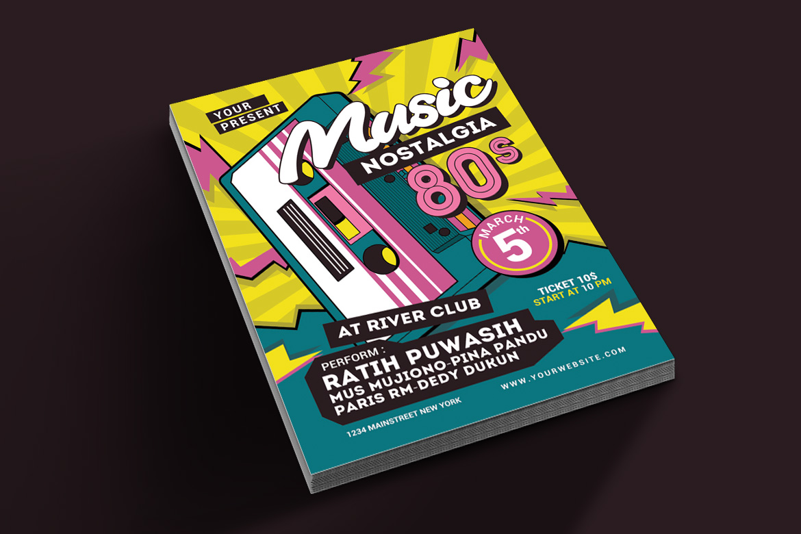 80's Music Event Flyer example image 2
