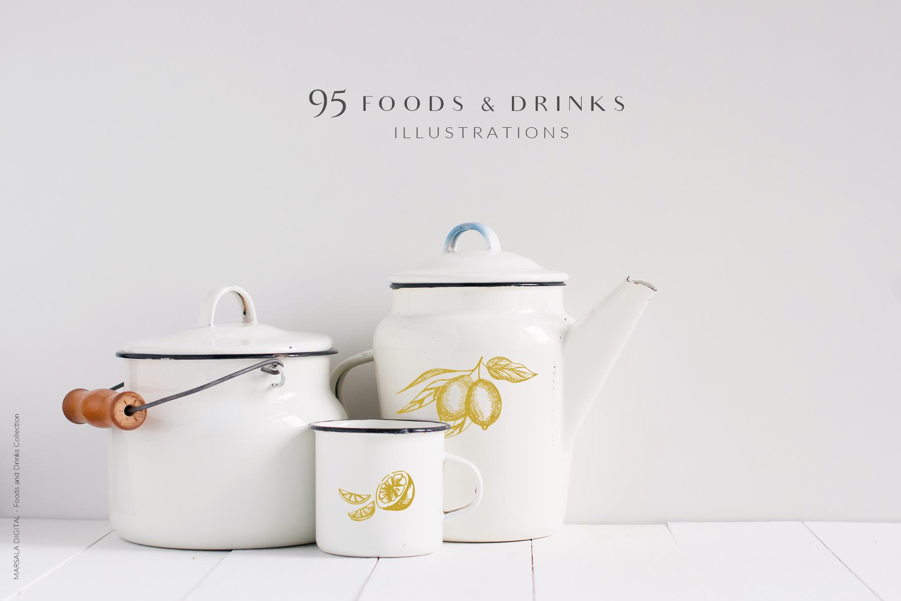 Foods & Drinks Logo Elements Handrawn Graphics example image 11