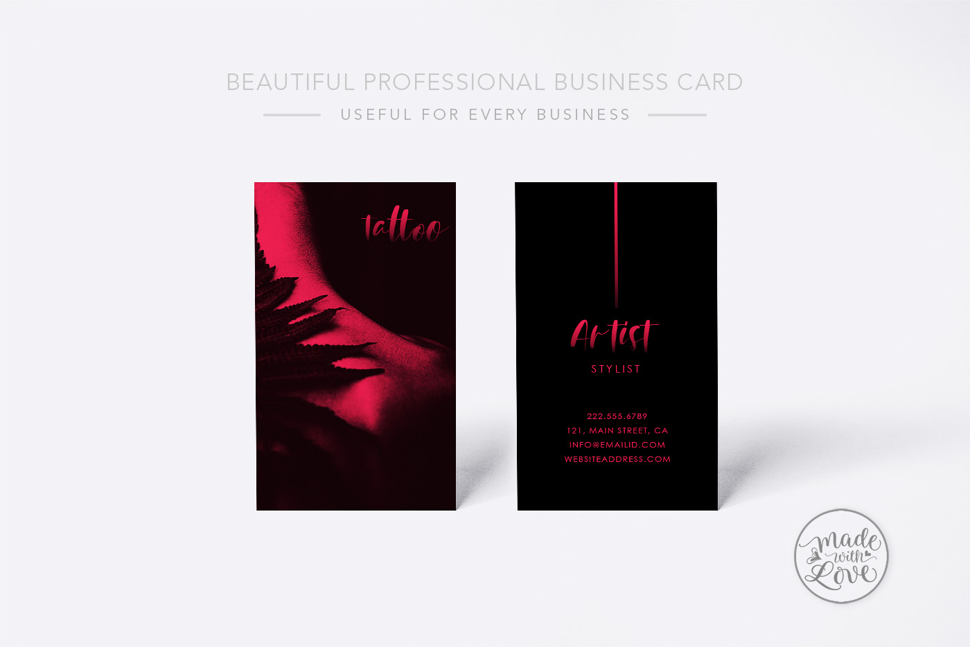 Tattoo Artist Professional Business Card example image 1