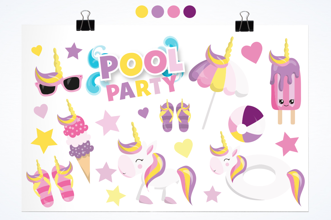 Pool Party graphic and illustrations example image 2