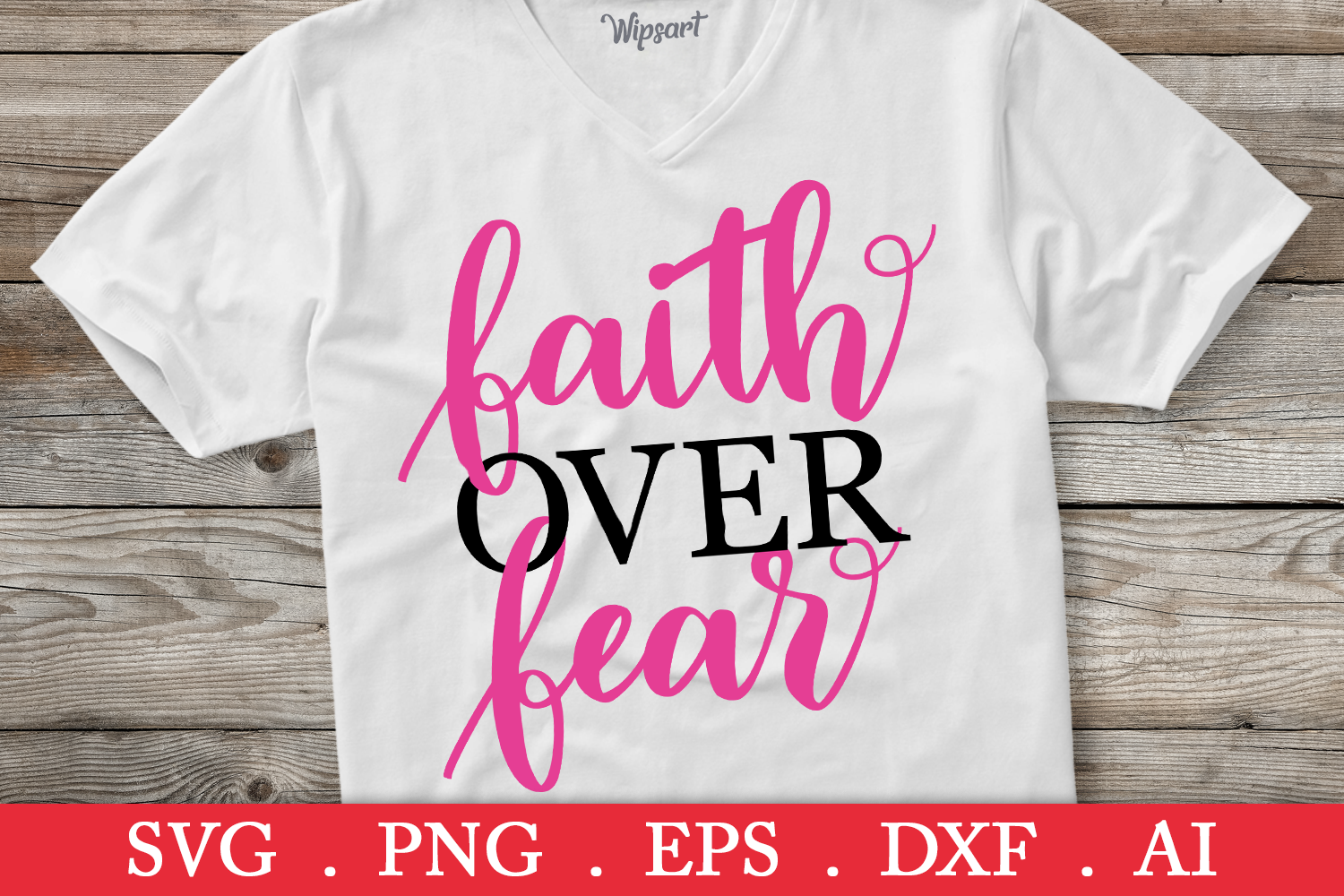 SALE! Faith over fear svg, breast cancer svg, cancer ribbon example image 1