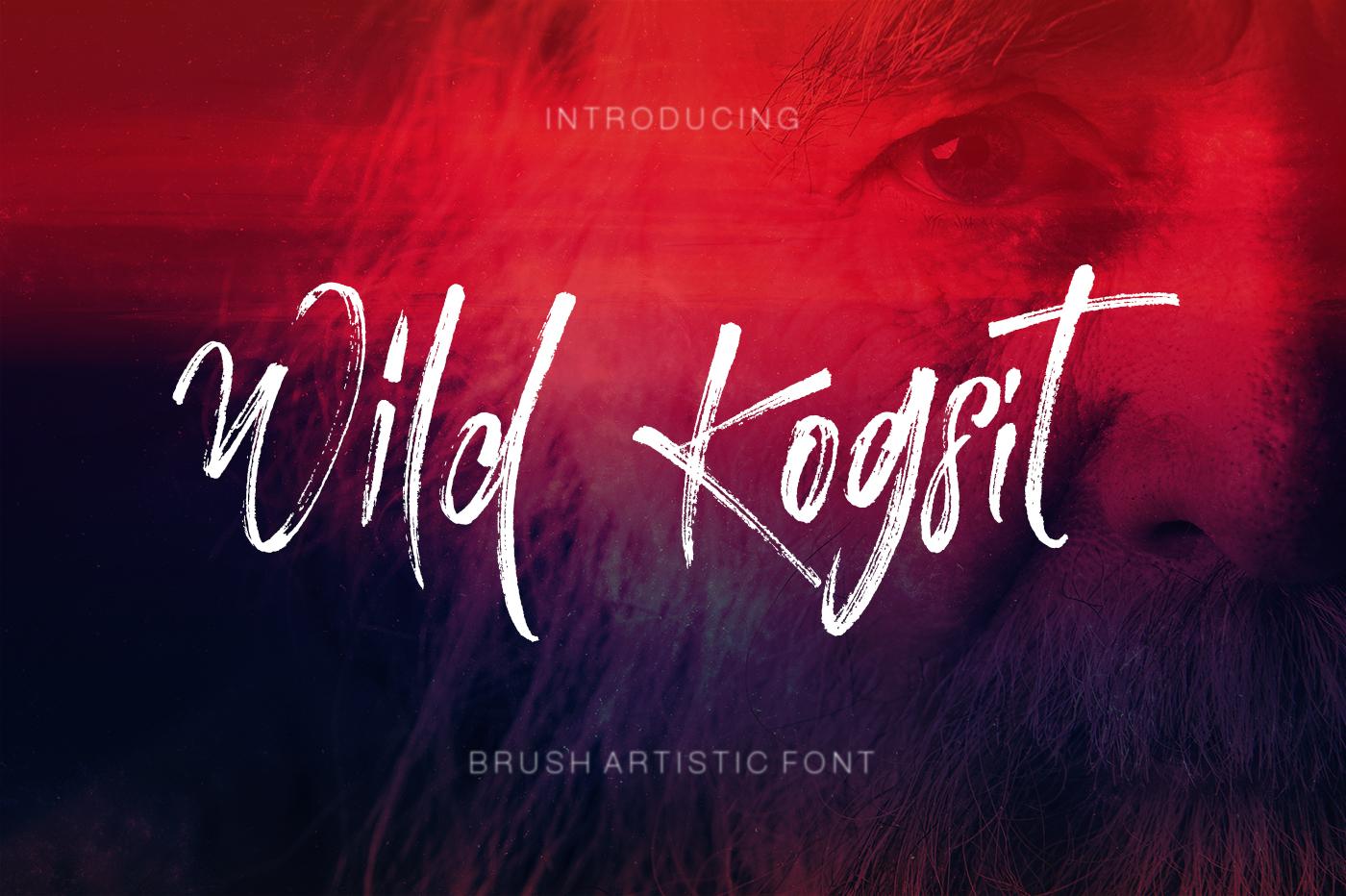 Wild Kogsit Artistic Script Font example image 1