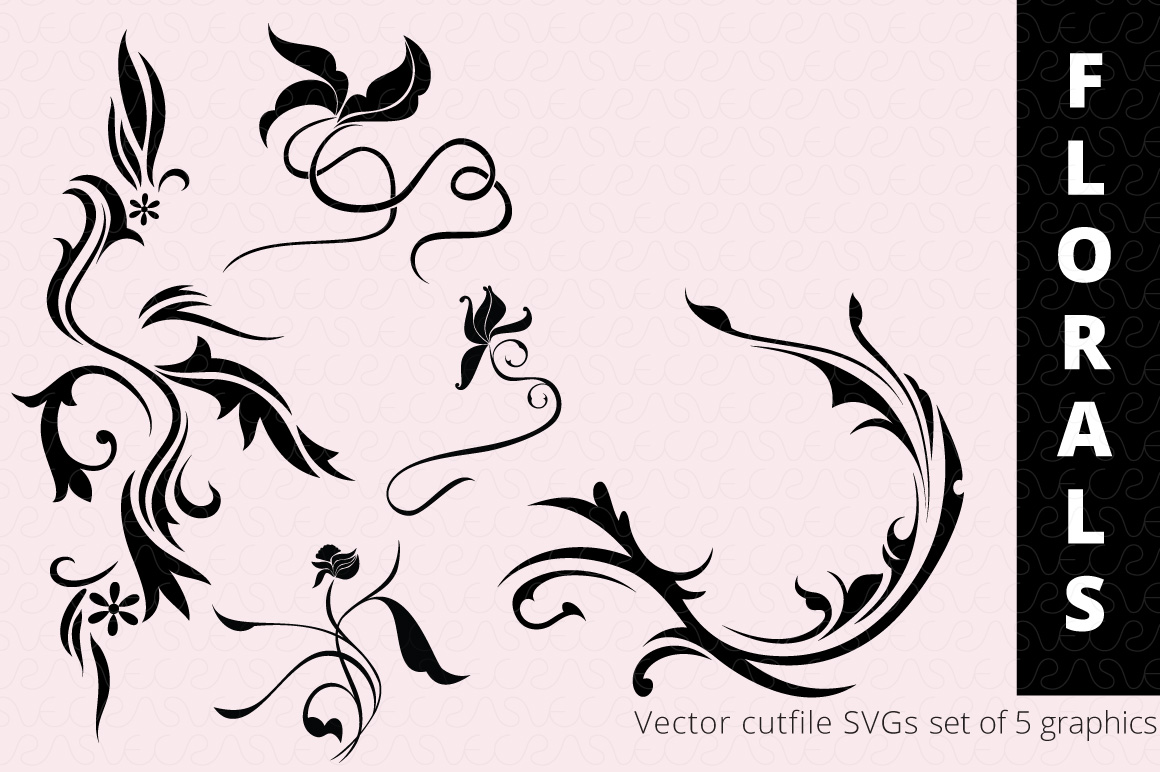 SVG Florals Cutfiles Bundle Pack of 270 vector graphic shape example image 21