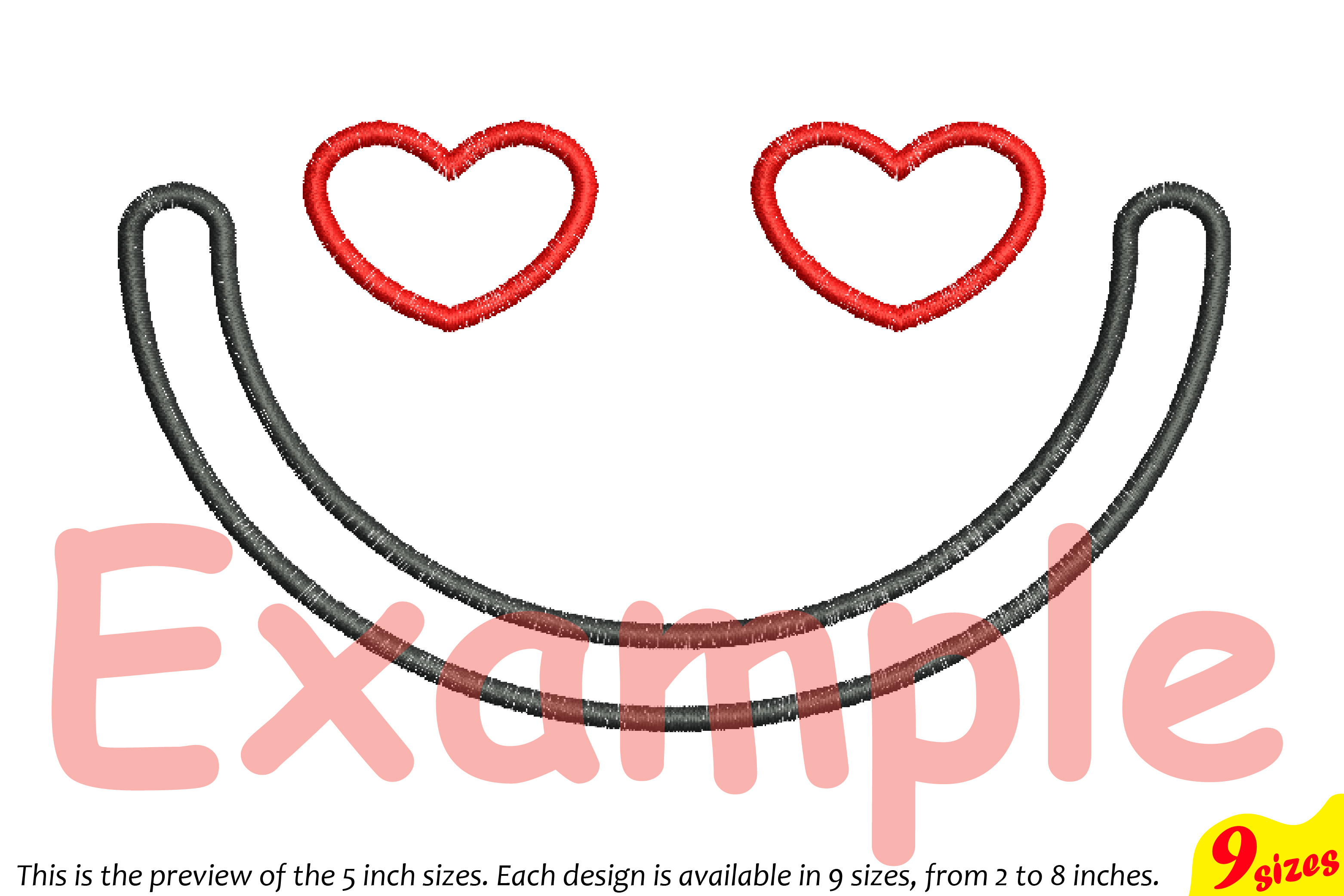 Cute Emoji Embroidery Design Machine Instant Download Commercial Use digital file icon symbol sign emoticons smile Kawaii Expression 185b example image 3