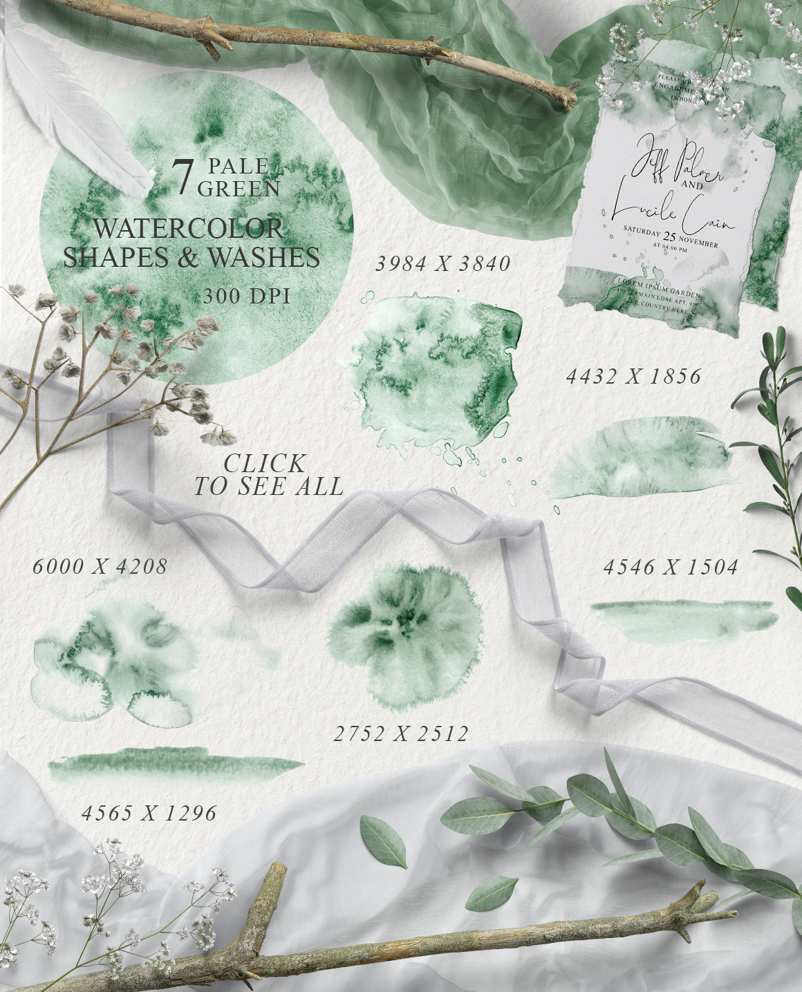 Elegant Watercolor Backgrounds example image 5